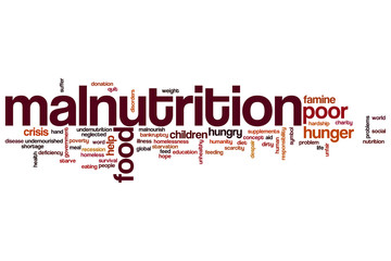 Malnutrition word cloud