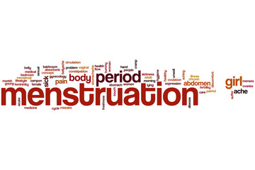 Menstruation word cloud