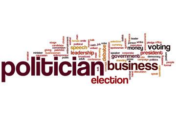 Politician word cloud