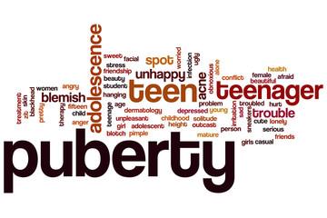 Puberty word cloud