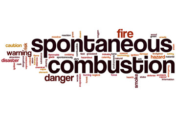 Spontaneous combustion word cloud
