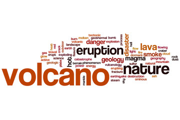 Volcano word cloud