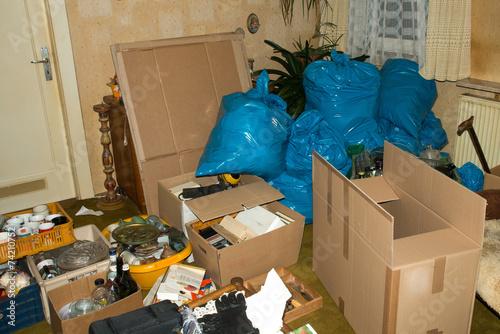 Leinwanddruck Bild Wohnungsauflösung