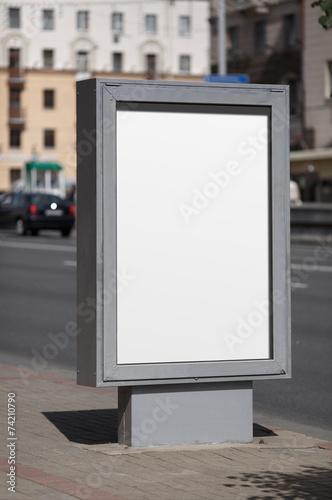 Blank vertical billboard