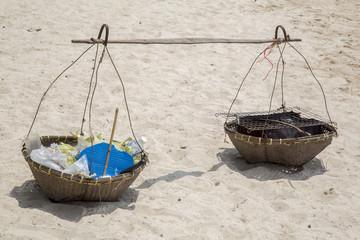 Strandverkäufer (Körbe)