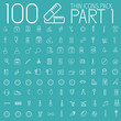 collection thin lines pictogram icon set concept background. Ve