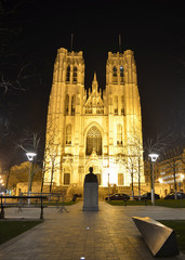 cathedral de sts michelle and gudule in brussels.