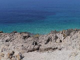 The erosion at the coast of Veli Rat on Dugi Otok in Croatia