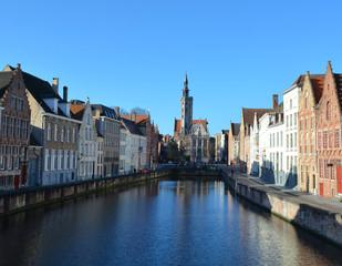 jan van eyck square in belgian bruges.