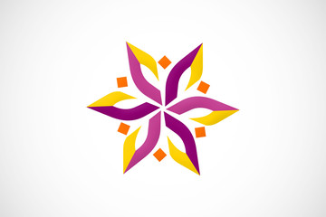abstract flower geometry logo