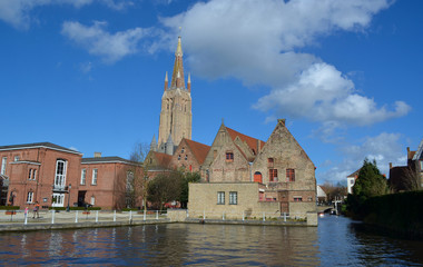 water channel in belgian bruges