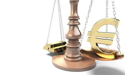 Bilancia lingotto euro