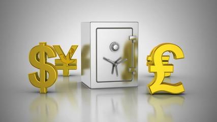 World Currencies Rotate Around Safe