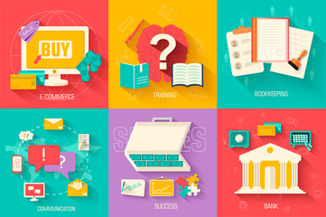set of social business life icons design. Vector illustrations b