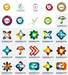Set of branding company logo elements