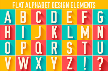 flat colorful letter of the alphabet vector illustration design