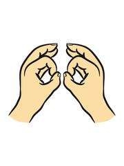 Hände arschloch loch fernglas