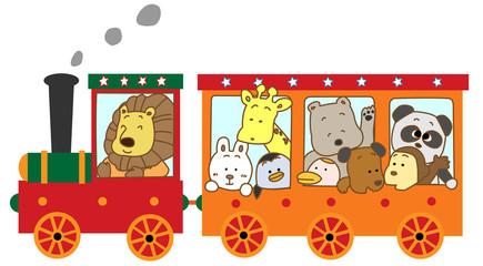 動物たちの鉄道の旅