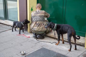 Obdachloser und Tierliebe