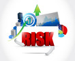 risk business graph illustration