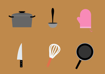 cookware ,Flat style