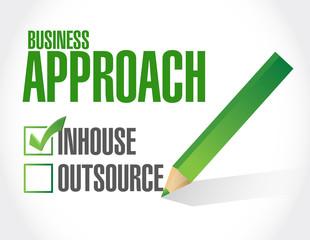 business approach check list. inhouse illustration