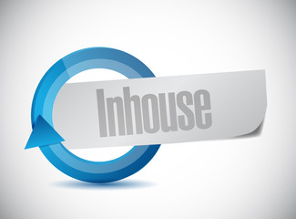 in-house cycle sign illustration design