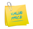 value price memo post illustration