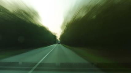 Car drving time lapse