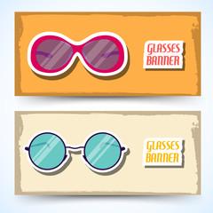 retro glasses background concept. vector illustration