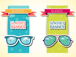 retro glasses background concept. vector illustration