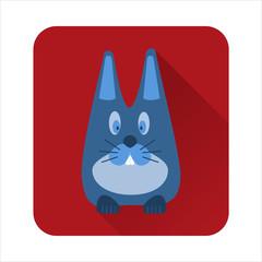 flat icon rabbit