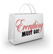 Everything Must Go Shopping Bag Going Out of Business Sale