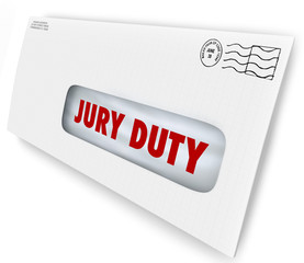 Jury Duty Envelope Summons Appear Court Legal Law Case