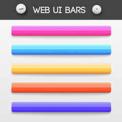 web interface ui elements. Vector illustration