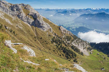 View from the Mt. Pilatus