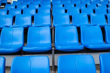 blue chair Temporary stadium