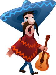 Singing mexican man
