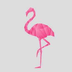 Flamingo Origami Style