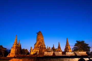 Wat Chaiwatthanaram twilight moment in the Ayutthaya
