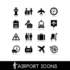 Airport icons set 4