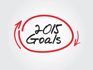 2015 Goals vector concept, chart, diagram, presentation
