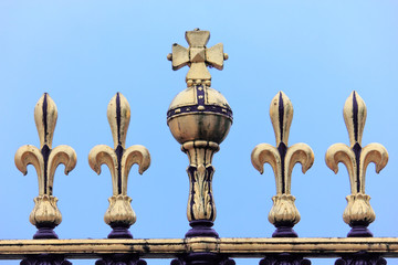 Detail from entrance gate in Buckingham palace