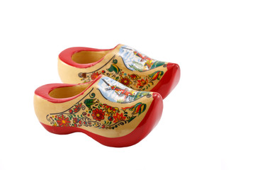 Colorful wooden shoes.