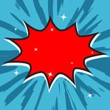 Fototapety Blank comic bubble speech, vector format