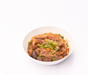 Noodles soup with duck.