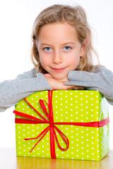 nice girl with present