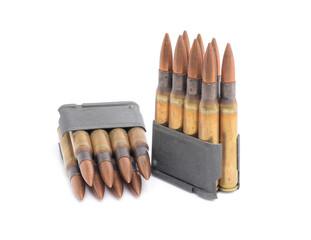 M1 Garand clips and ammunition.