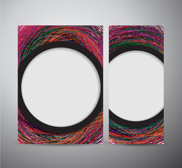 Abstract colorful geometric elements brochure design or roll up