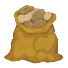 a bag of potatoes